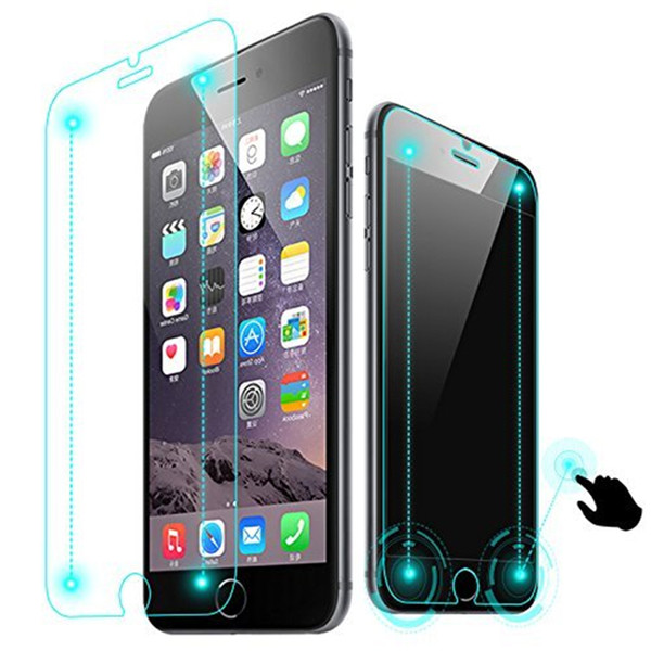 100PCS Smart Return Magic Touch Tempered Glass Screen Protector Invisible Buttons for iPhone 6 Plus No Package