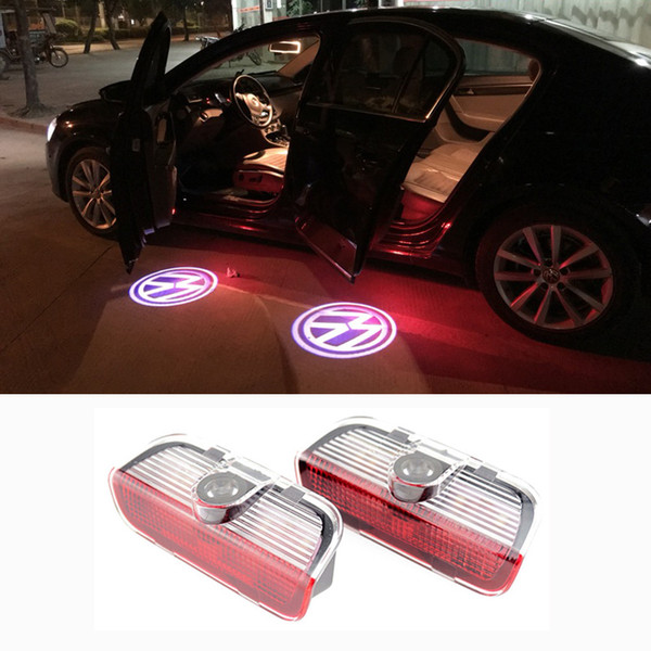 2Pcs Car LED Door Welcome Light VW Logo Projector For VW Golf 6 7 Jetta MK5 MK6 Tiguan Touareg Passat B6 B7 CC Sharan Scirocco EOS