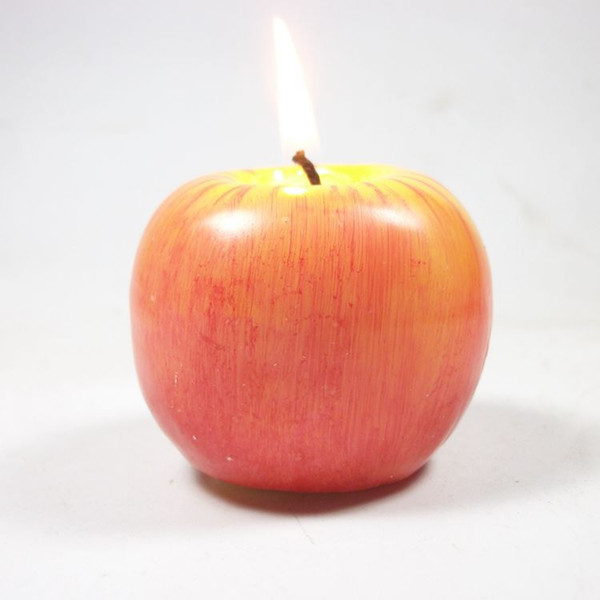 best selling Fruit candle Vintage Apple candle home docor romantic party decorations Apple scented candles For Wedding Christmas Eve