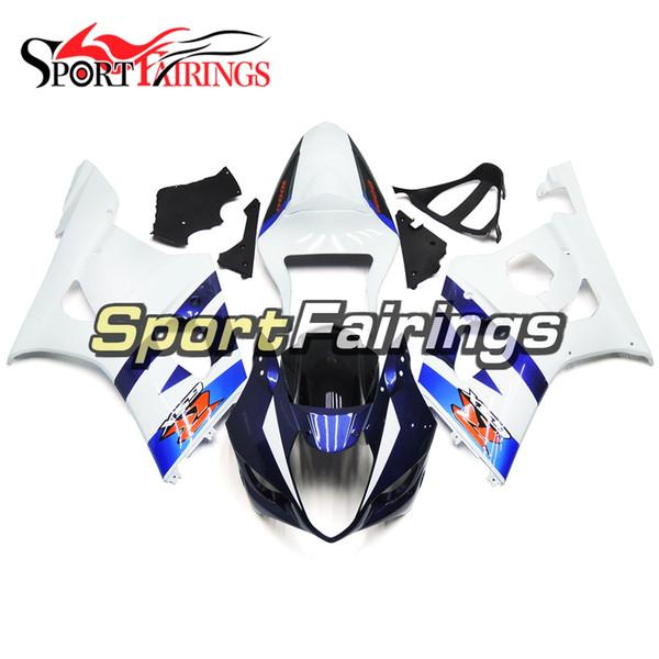 Complete Fairing Kit For Suzuki GSXR1000 GSX-R1000 GSXR 1000 K3 03 04 Year 2003 2004 ABS Motorcycle Bodywork Cowling White Blue Carene