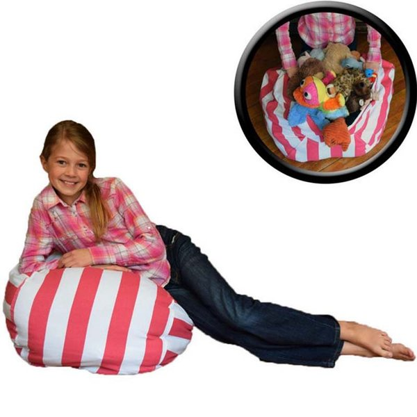 Superb Online Cheap 63Cm Storage Bean Bags Beanbag Chair Kids Bedroom Stuffed Animal Dolls Organizer Plush Toys Buggy Bags Baby Play Mat By Ok767 Inzonedesignstudio Interior Chair Design Inzonedesignstudiocom