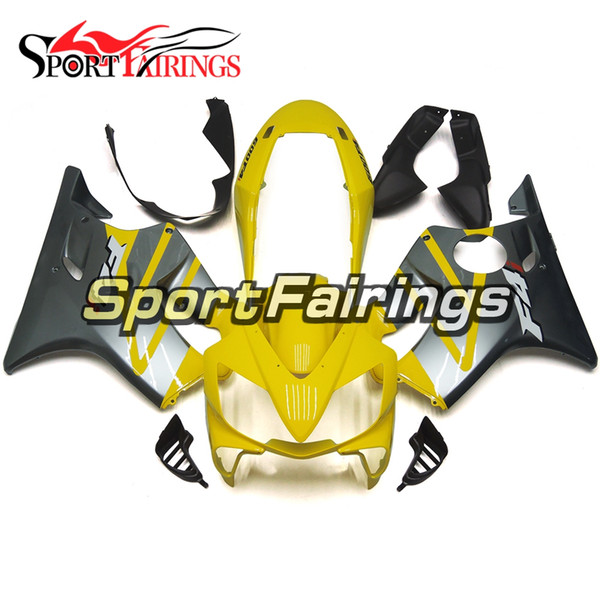 Full Motorcycle Plastics ABS Injection Fairing Kits For Honda CBR600 F4i 2004-2007 Year 04 05 06 07 Fairings Pale Yellow Grey Black Cowling