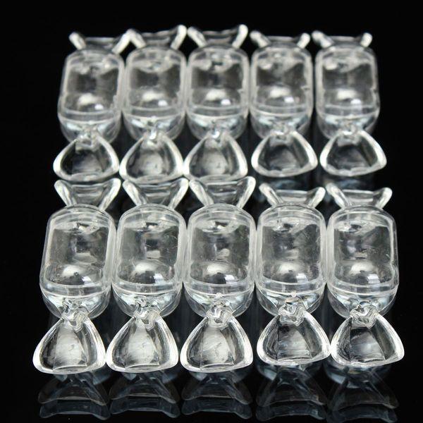 Venda por atacado- 10pcs caixas de bombons de casamento de plástico Transparente Limpar doce em forma de recipiente de armazenamento do bebê favor do chuveiro