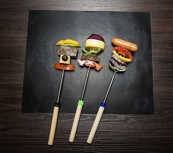 Cheapest 5pcs/set Non-stick BBQ Grill Mat Thick Durable 30*40CM Sheet Portable Barbecue Mat Easy Clean Picnic Cooking Tool (7)