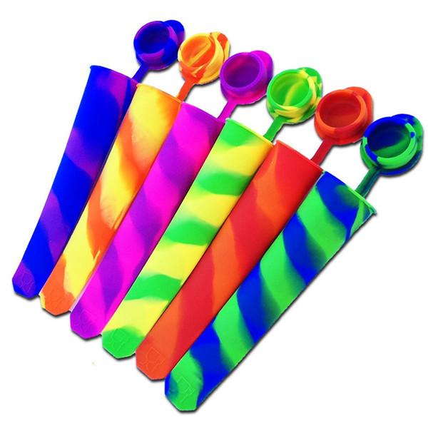 Silikon-Eis-Pop-Form Eis am Stiel-Form-Eiscreme-Hersteller drücken Eis-Gelee-Lutschbonbon-Pop für Eis am Stiel hoch