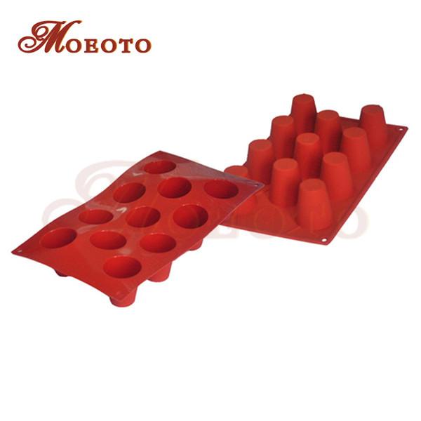 Atacado-New 11-Cavity Bolo Baking Panelas De Chocolate Bandeja De Cozimento De Silicone Chiffon Mini Bolo Mold Pudim MoldesCake Bakeware ferramentas