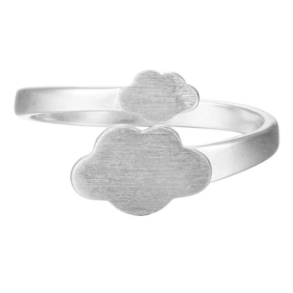 5pcs/lot Hot Charm Real Pure 925 Sterling Silver Cloud Rings for Women High Quality Adjust Free Size Girls Gift Anillo de plata