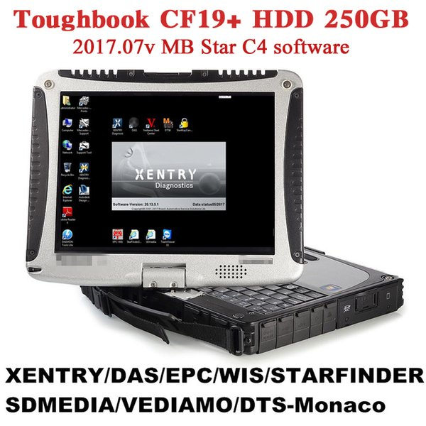 Top-rated Toughbook for Panasonic CF 19 CF19 CF-19 laptop with DTS Monaco8+Vediamo+Xentry+DAS+EPC installed in HDD for MB Star C4