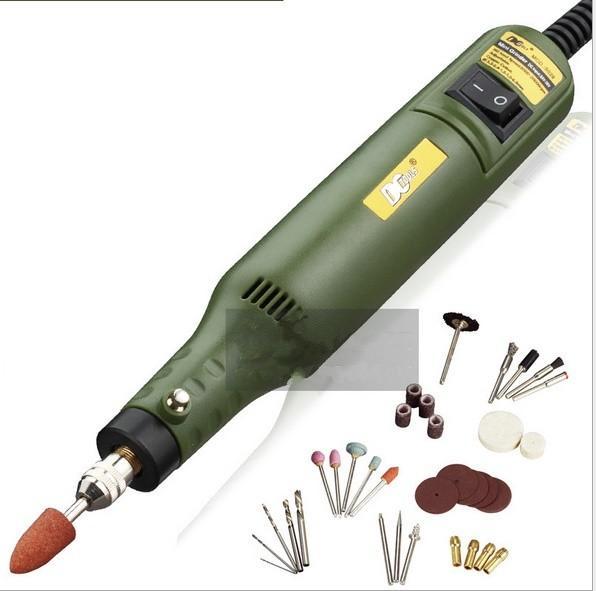 Multi-functional mini electric grinder, polishing punching Sculpturing carving tools set total 35pcs items