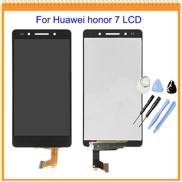 All'ingrosso-100% nuovo testato per Huawei Honor 7 Display LCD con Touch Screen Digitizer Assembly completo bianco / nero / oro + strumenti