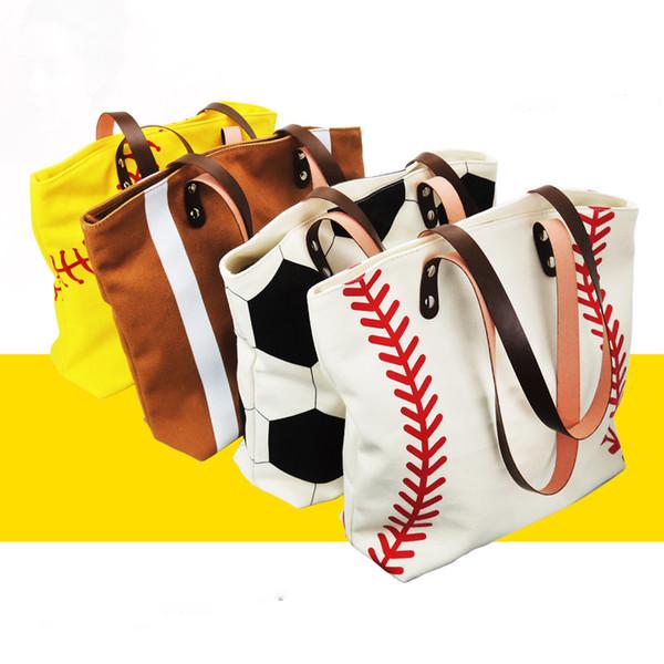 5pcs Marke New Fashion Baseball Totes Canvas Tote Sport Softball Tasche