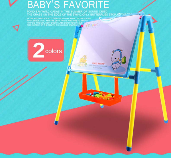 Child Double Side Plastic Magnetic Blackboard Whiteboard/ Kids Big Writing And Drawing Board Toys With Eraser/Chalk/Marker