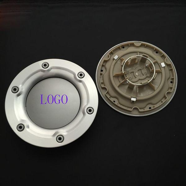 4 * 146 mm Rueda de coche Casquillo central Tapas de cubo Cubiertas de llantas 6 agujeros Emblema Insignia de coche para audi Ajuste para TT 8N0601165A Envío gratis