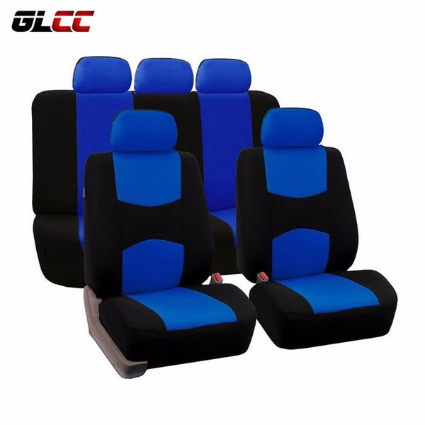 top popular High Quality Car Seat Cover Universal Mesh Polyester 9 Pcs Auto covers For Volkswagen BMW Ford Lada Interior Car Accessories 2019