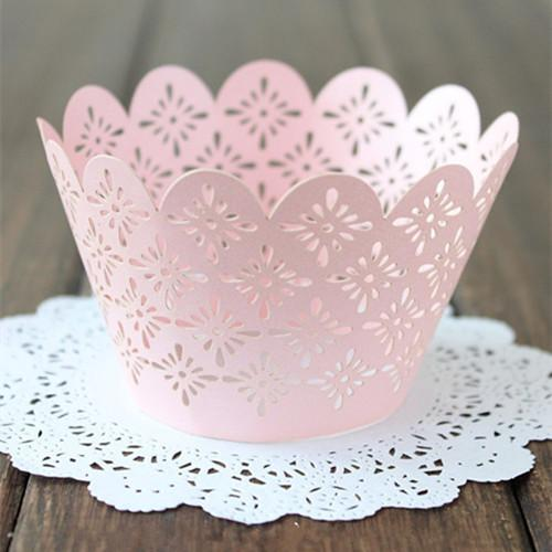 Lace Cupcake Wrappers Laser Cut Muffin Cupcake Paper Cups Cake Tool Decoration Bakeware Decorating Mould