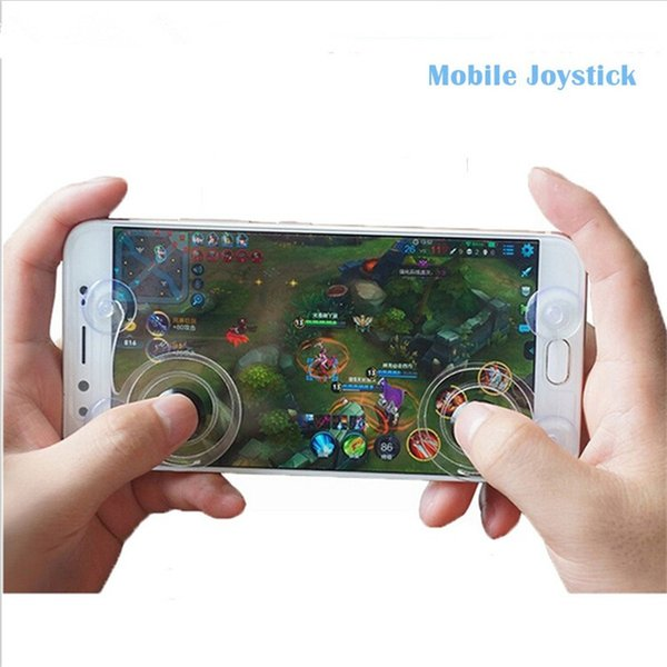 2pcs/pair Adsorption Screen Fling Mini Game Joystick Mobile Joystick Gaming Remote Control for Android IOS Phone And Ipad