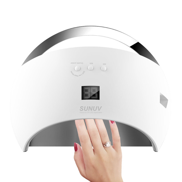 SUN6 48W UV led nail Lamp Manicure with Timer LCD Display Smart 2.0 Nail Dryer Infrared Colorful Curing All Nail Gels