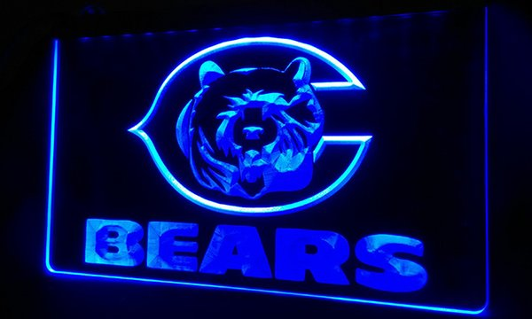 LS305-b-Chicago-Bears-Bar-Beer-Pub-NEW-Neon-Light-Sign Decor Free Shipping Dropshipping Wholesale 6 colors to choose