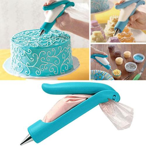 Wholesale- Pastry Icing Piping Bag Nozzle Tips Fondant Cake SugarCraft Decorating Pen New Cake Decorating Tools Kitchen accessories