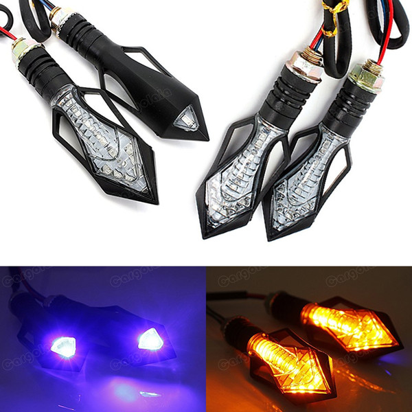 4x Universal Motocicleta Bicicleta 12V Âmbar LED Turn Signal Indicator Blinker Light