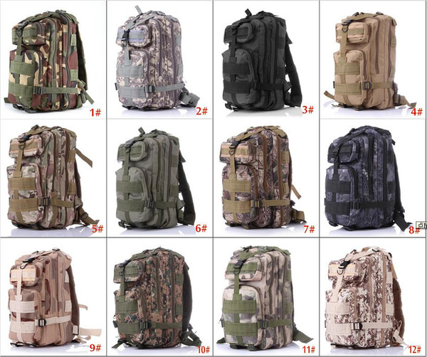 Retail & Wholesale nylon 30L Outdoor Sport Military Tactical Backpack Rucksacks Camping Hiking Trekking Bag free shipping epacket