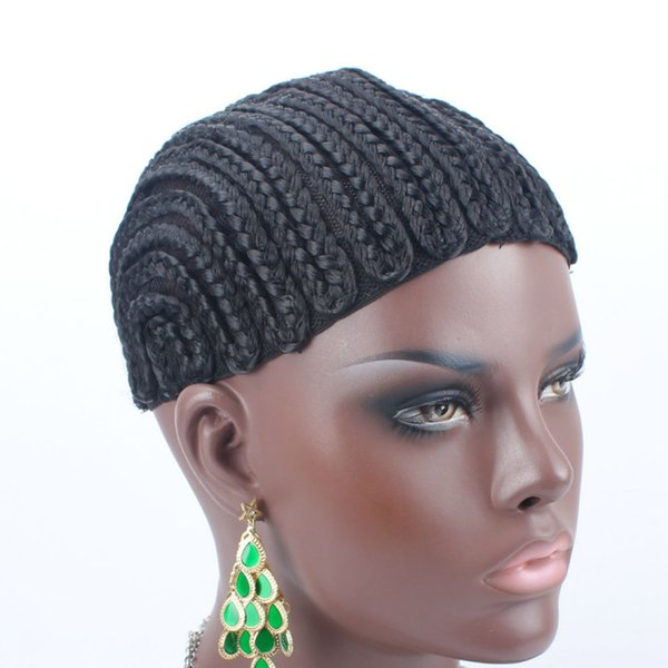 New Brand Braided Cornrow Wig Cap Easy To Sew In Glueless Hairnet Full Swiss Lace For Wig Making braided wig cap 5Pcs