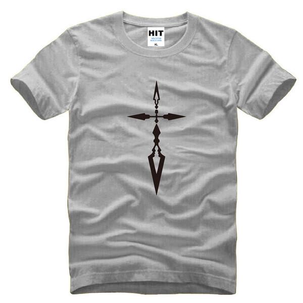 2017 New Fashion FATE ZERO Order curse cross swords Printed Mens T Shirt Print Men T-shirt Short Sleeve Cotton Tshirt Tee