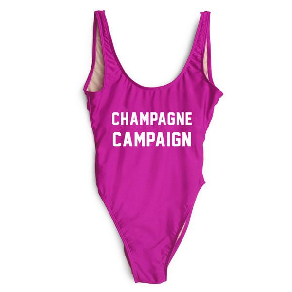 Costumi Da Bagno Personalizzati.Acquista Costume Da Bagno Intero Donna Campagna Champagne Costume Da Bagno Personalizzato Tuta Da Bagno Sexy Taglio Alto Tuta Da Donna Monokini