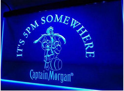 IT's 5 pm Somewhere Captain Morgan bar Beer pub club 3d signs LED Neon Sign
