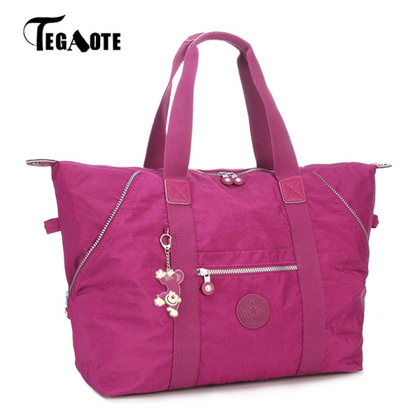 Wholesale- TEGAOTE Top-handle Bag Handbags Women Famous Brand Big Nylon Shoulder Beach Bag Casual Tote Female Purse Sac Femme Bolsa Feminia