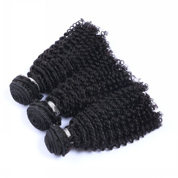 8A Unprocessed Peruvian Malaysian Indian Cambodian Brazilian Kinky Curly Human Hair Natural Black Kinky Curly Hair Weaves