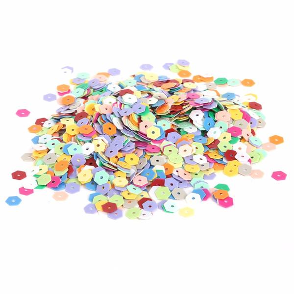 Yeni Varış 5/6/10 / 15mm 350-3200 adet Karışık renk Gevşek Pullu Giyim Accssory DIY Craft Scrapbooking Düğün Takı Yapımı