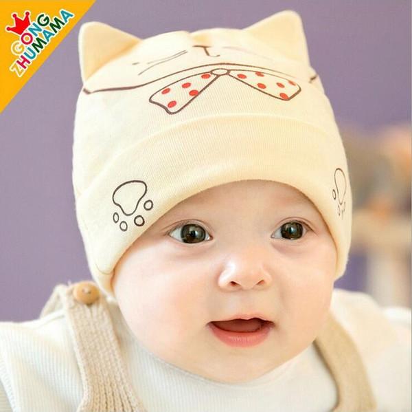 Venta al por mayor bebé lindo sombrero hecho punto con el patrón de ...