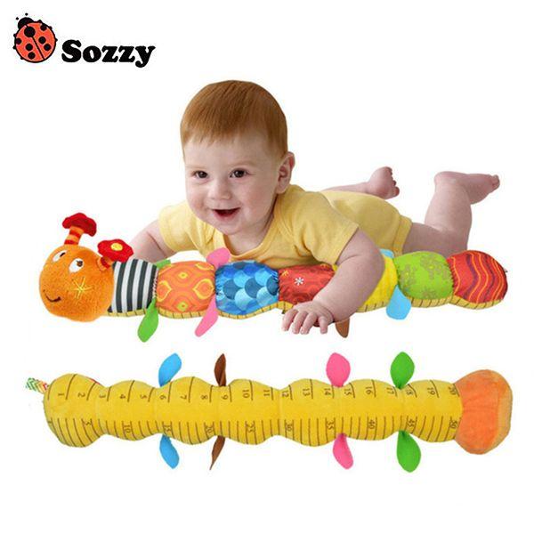 Juguete para bebé de Sozzy Sonajero musical de Caterpillar con anillo Timbre Lindo de dibujos animados Animal Muñeco de peluche Educativo temprano