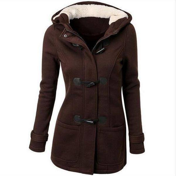 2017 Fashion autumn and winter women's new European and American wool blended coat women's wool hood coat coat