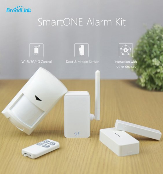 Wholesale-2016 New Arrival Broadlink S1/S1C SmartOne Alarm & Security Kit For Home Smart Home Alarm System Android Remote Control