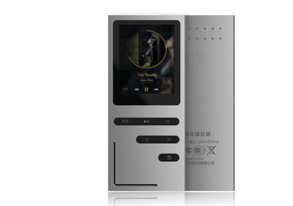 "Wholesale- New MP3 Music Player 1.8"" Screen 8GB Built-in Speaker Metal Body Lossless Audio APE FLAC Player MP3 with FM Radio Voice Record"
