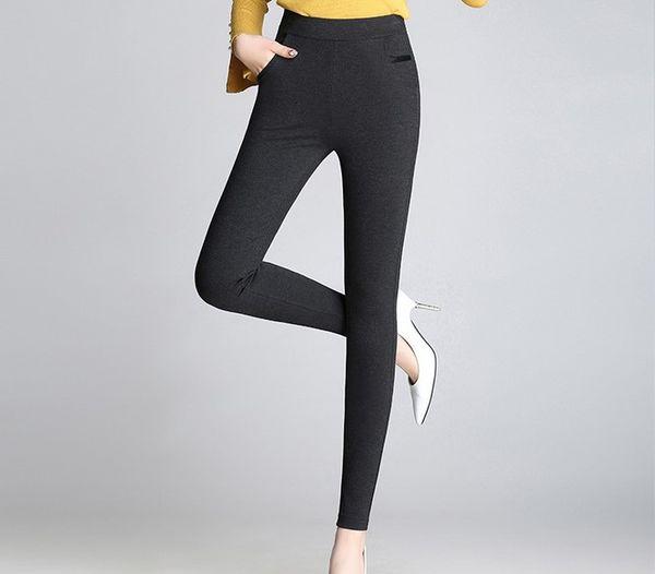 2019 pantalons chauds pour femmes sexy de style coréen en viscose à taille mi-haute élastique Strenchy All-Match Skinny Leggings