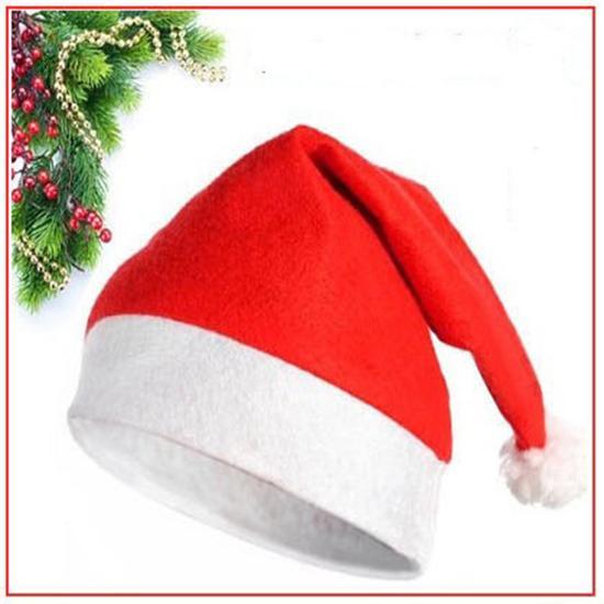 Fábrica wholsale Adulto / Criança Clássico Unisex Santa Xmas Chapéu Decoração Do Partido Chapéus de Natal Traje Do Feriado Caps para audlt e criança