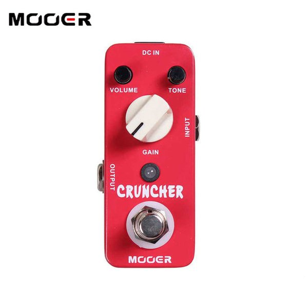 MOOER Cruncher High-gain Distortion Effects Pedal with powerful mid frequency Guitar effect pedal