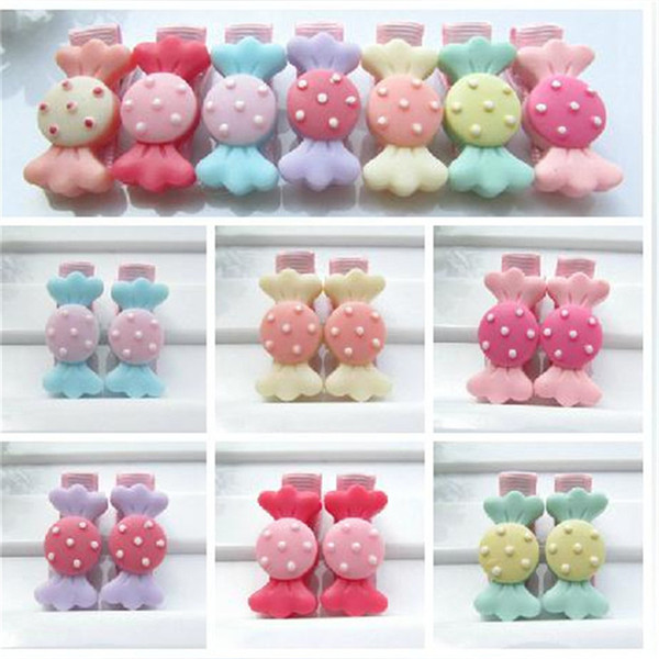 Wholesale- 2017 Fashion Special Offer Cute Hair Clip Kids Girls Hairpin South Korean Accessories Acrylic Barrettes Candy Hairclip 6pcs