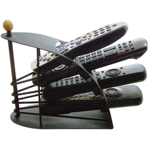Best Selling Remote Control TV Holder / Storage Caddy - Black Metal Arched
