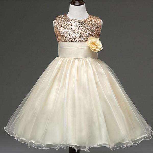 Vente au détail fleur fille avec une rose bien anniversaire fête de mariage robe de princesse pour les filles enfants enfants fille veste robe 10 couleur
