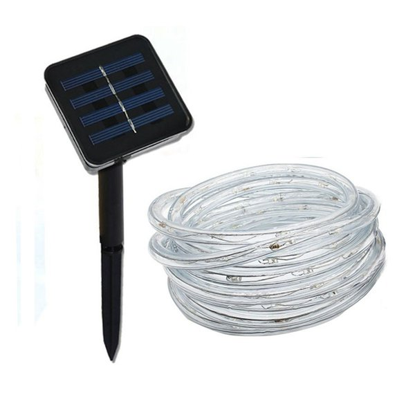 12M 100LED Solar String Fairy Light Outdoor Waterproof Copper Rope Tube String Light for Fence Landscape Garden christmas lights