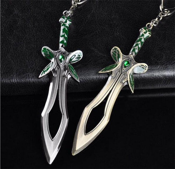 High Quality New Dota 2 Butterfly Mini Sword Key Chain Dota2 Weapon Keychain Mini Sword Keyring in Box Packer Wholesale