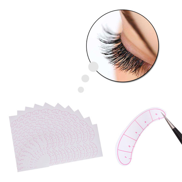 80pairs/pack Paper Patches 3D Eyelash Under Eye Pads Lash Eyelash Extension Paper Patches Eye Tips Sticker Wraps Make Up Tools