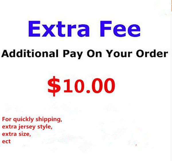 Taxa de saldo apenas para custo extra de ordem, Personalizar nome ou remendo extra ou tamanho especial, 1 peça = 1USD