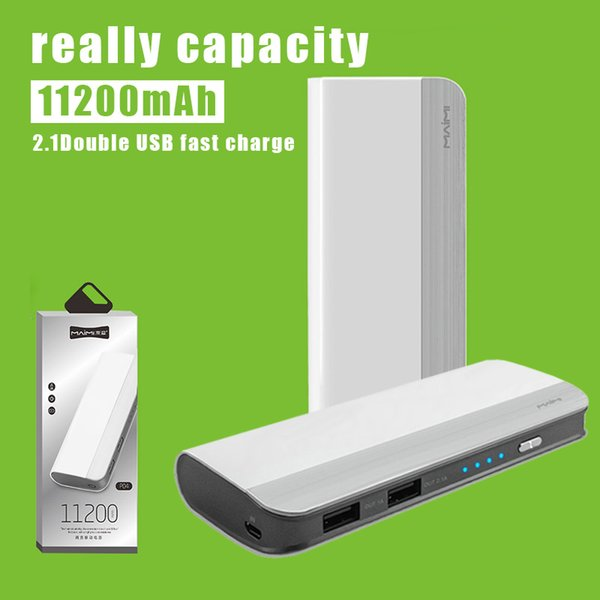 11200mAh Power Bank Dual USB External Battery Phone Charger Fast Charger for Samsung iPhone with Retail Package