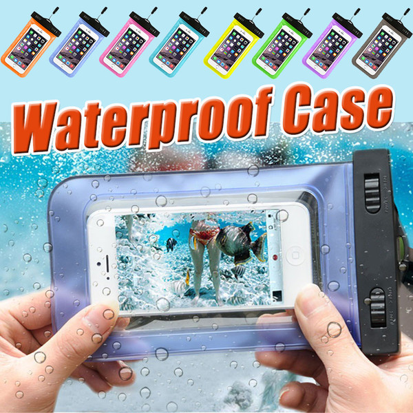 Waterproof Bag PVC Protective Universal Touch Screen Pouch Dry Diving Swimming Cover Case For iPhone XS Plus X 8 7 Samsung Galaxy Note 9 S9