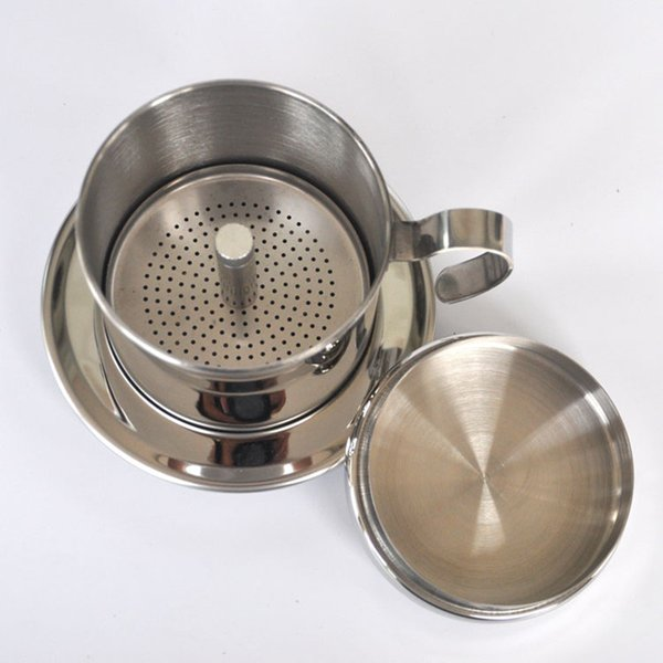 The portable stainless steel Vietnam Coffee Dripper filter coffee maker high quality drip coffee filter pot filters tools